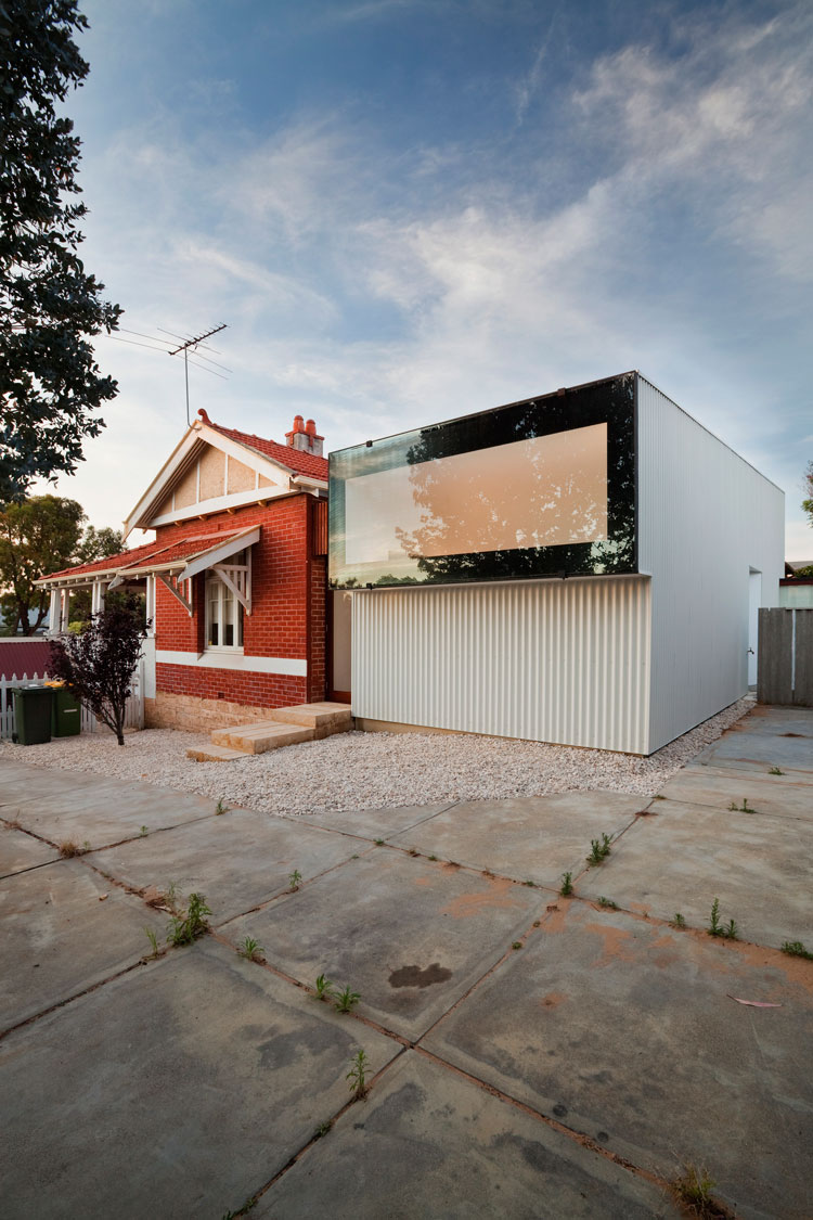 On a shared access lane beside Westbury Crescent, you can see the striking periscope which is letting light into the house without sacrificing privacy