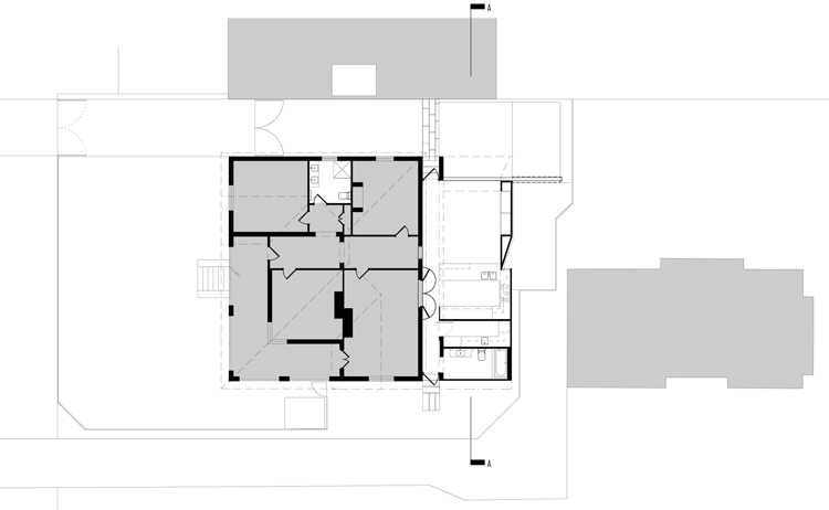 The plan of Westbury Crescent Residence shows how the extension has added 50% floorspace to the existing home