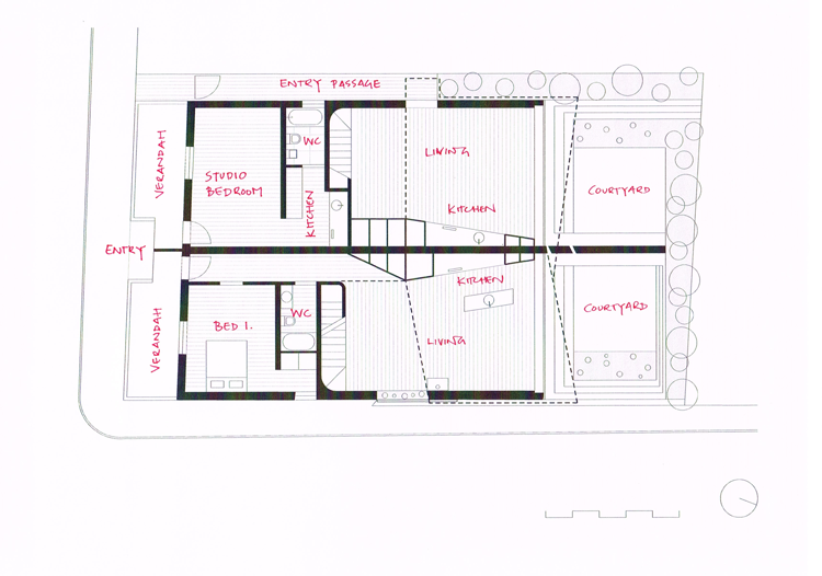 Balmain Houses Ground Floor Plan