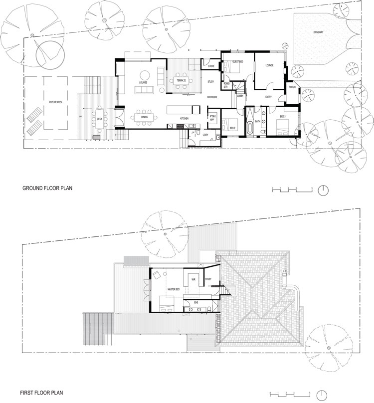 Bayside Residence FMD Architects Floor Plan
