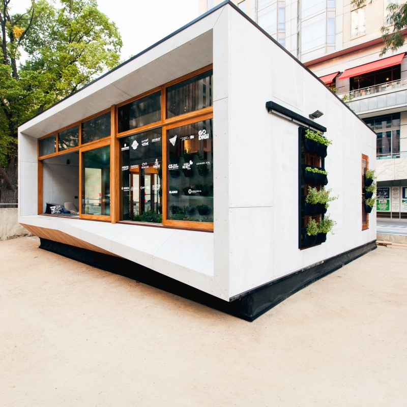 Carbon Positive Prefab House by ArchiBlox (via Lunchbox Architect)