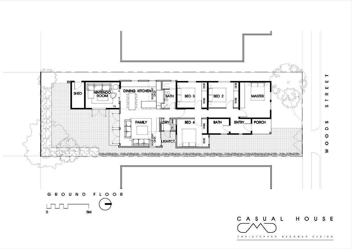 Casual House by Christopher Megowan Design (by Lunchbox Architect)