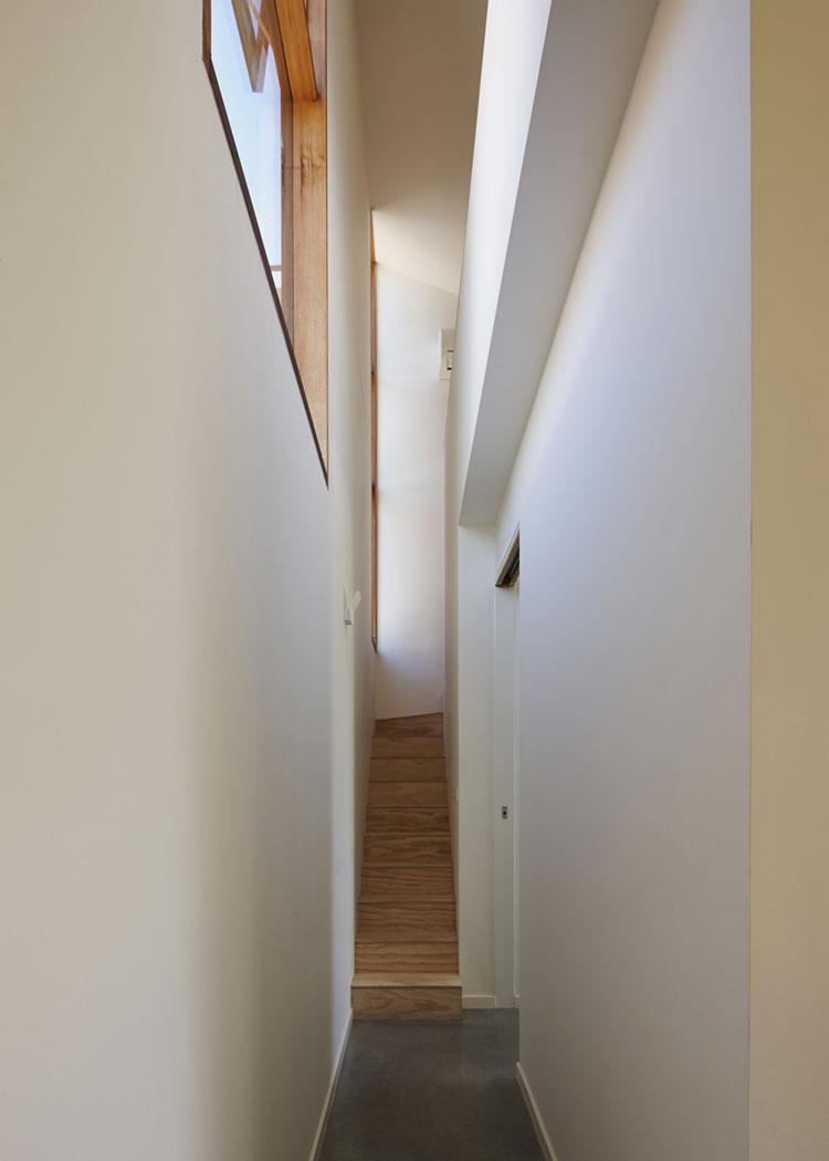 Engawa House narrow stair leads to mezzanine office