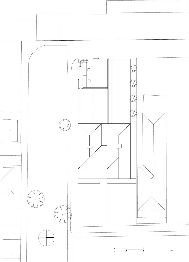 Engawa House mezzanine office floorplan