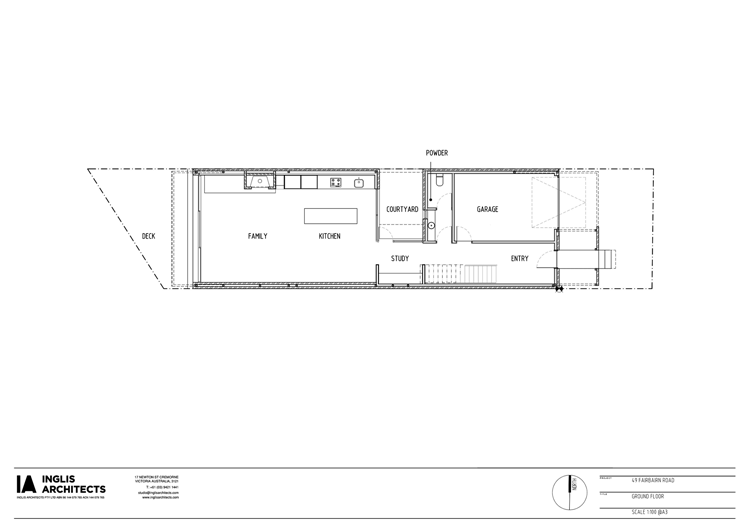 Fairbairn House Ground Floor Plan