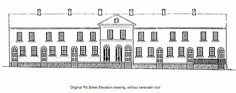 Fitzroy Terrace in Sydney's original elevation shows its strict Georgian lines