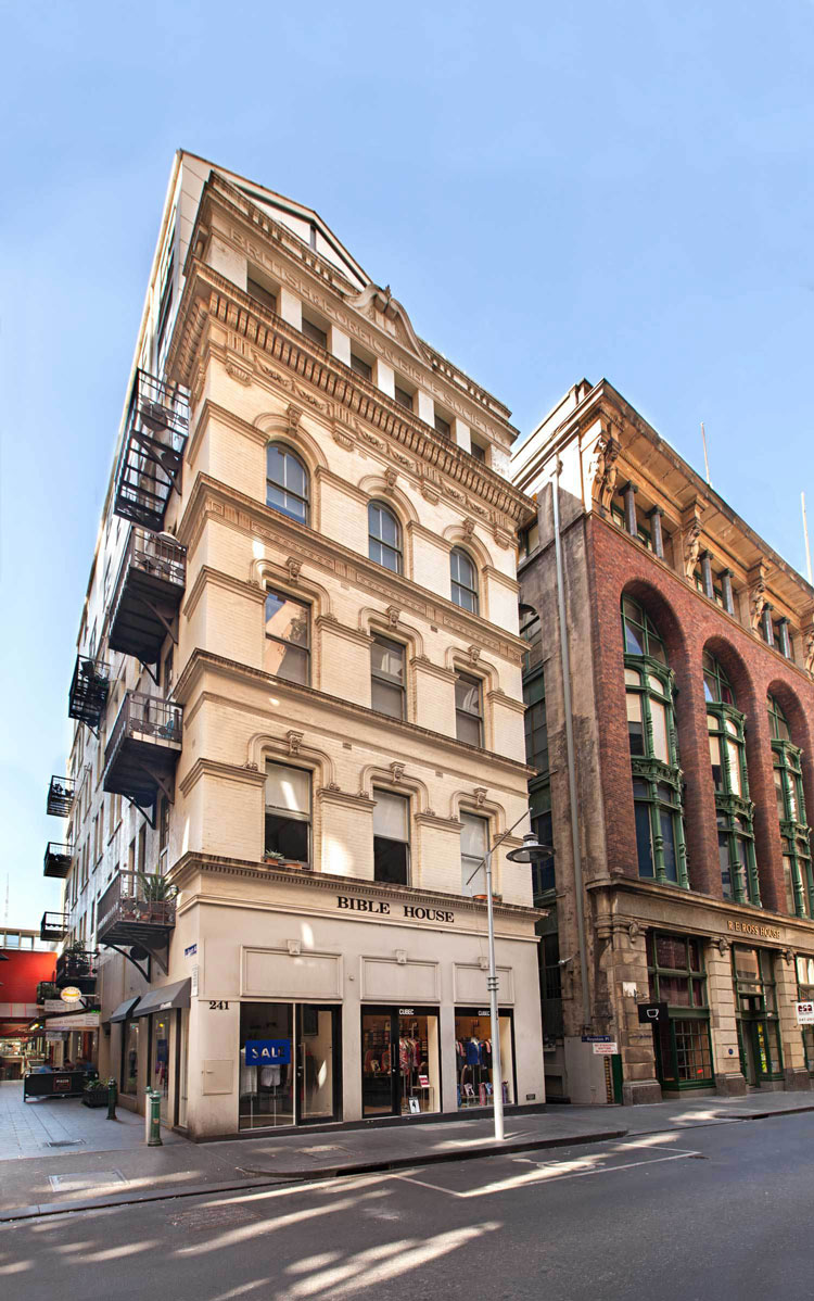 Flinders Lane Space Efficient Apartment is in Bible House an historic building in Flinders Lane in the heart of Melbourne