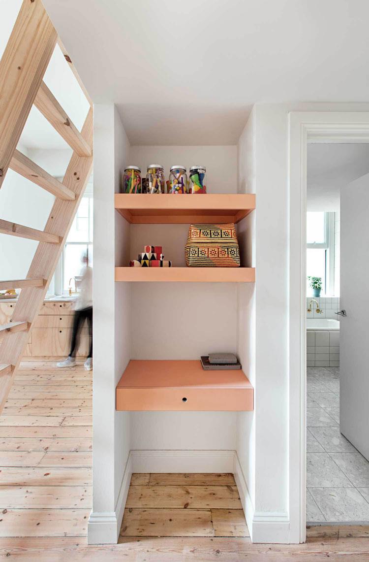 Flinders Lane Space Efficient Apartment storage area