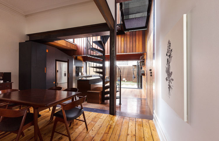HOUSE House viewed from outside by Andrew Maynard Architects. Via Lunchbox Architect