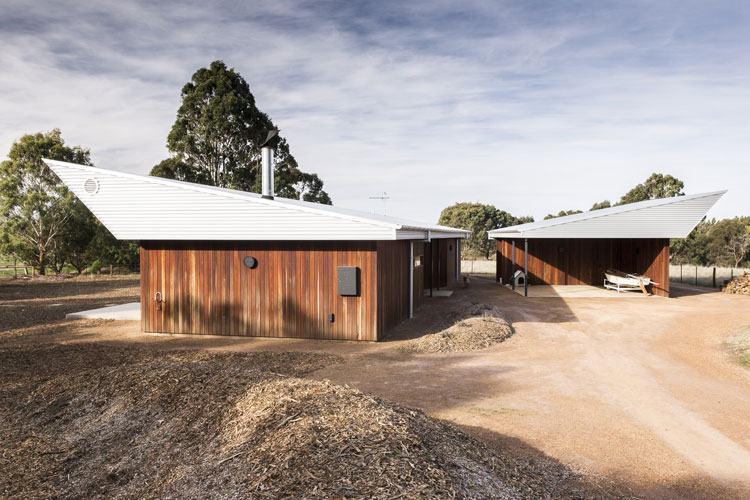 Dramatic roof line of the Leura Lane House