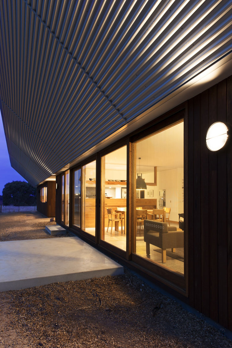 Leura Lane House glows at night