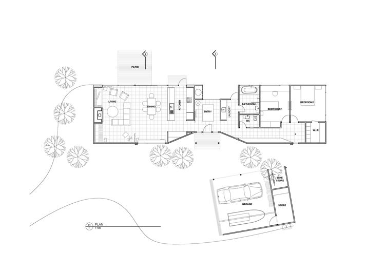 Leura Lane House floor plan