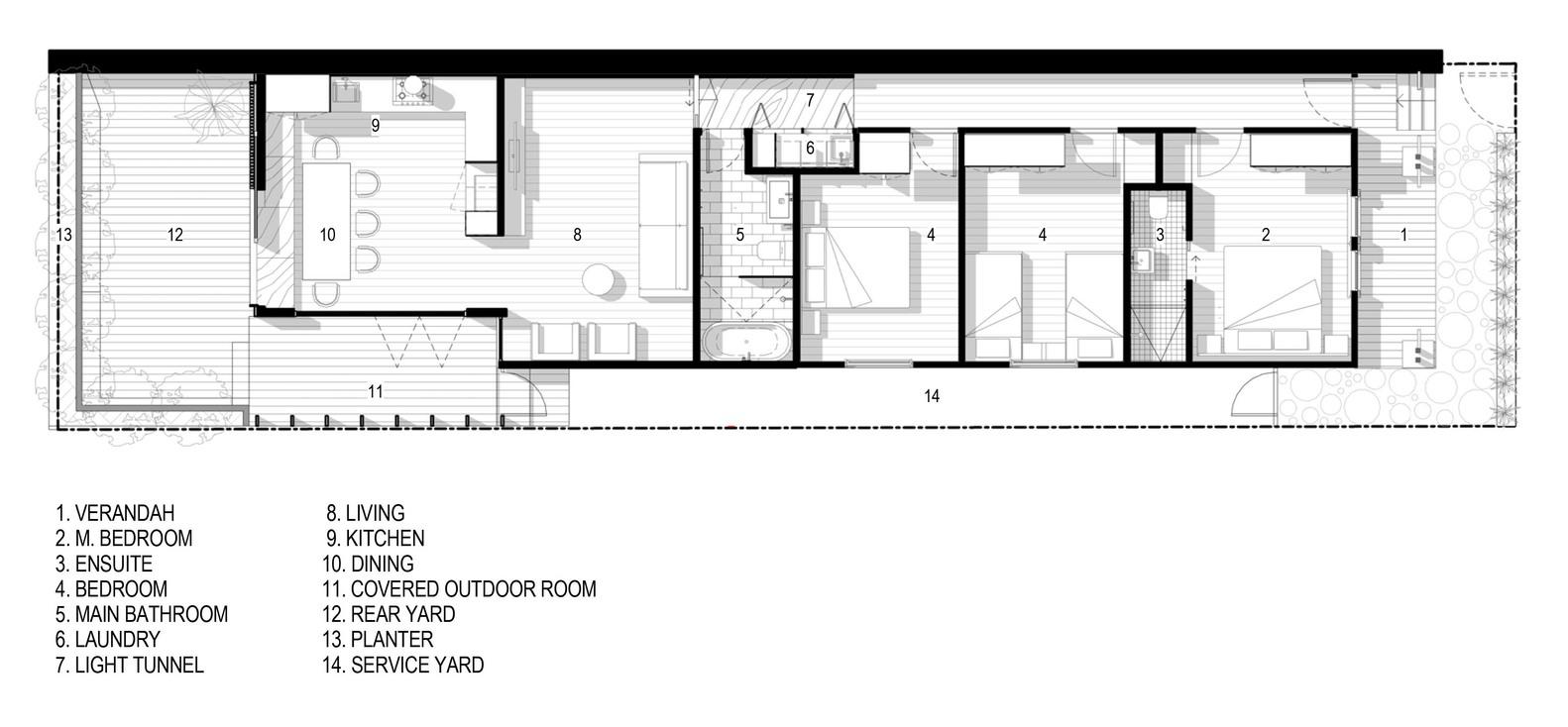 Light Corridor House