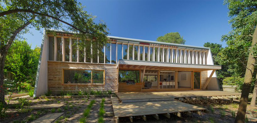 march studio crafts timber somers beach house in australia