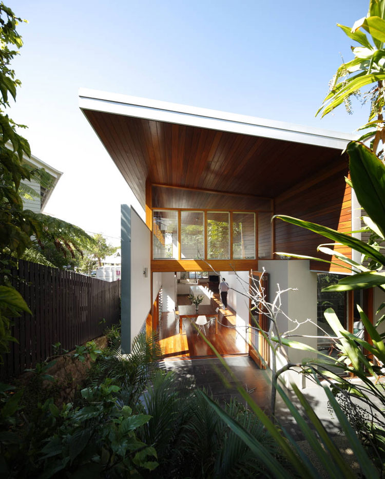 Mountford Road addition is light, airy and connects with an established garden