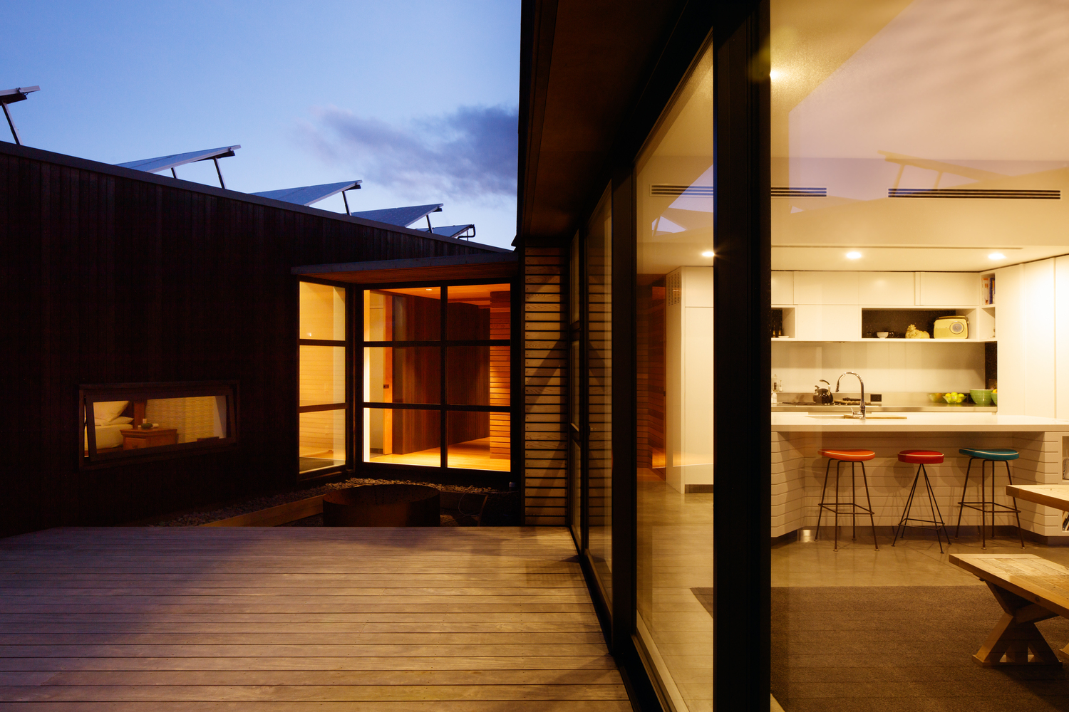 A Sheltered Courtyard Protects From This Exposed Location