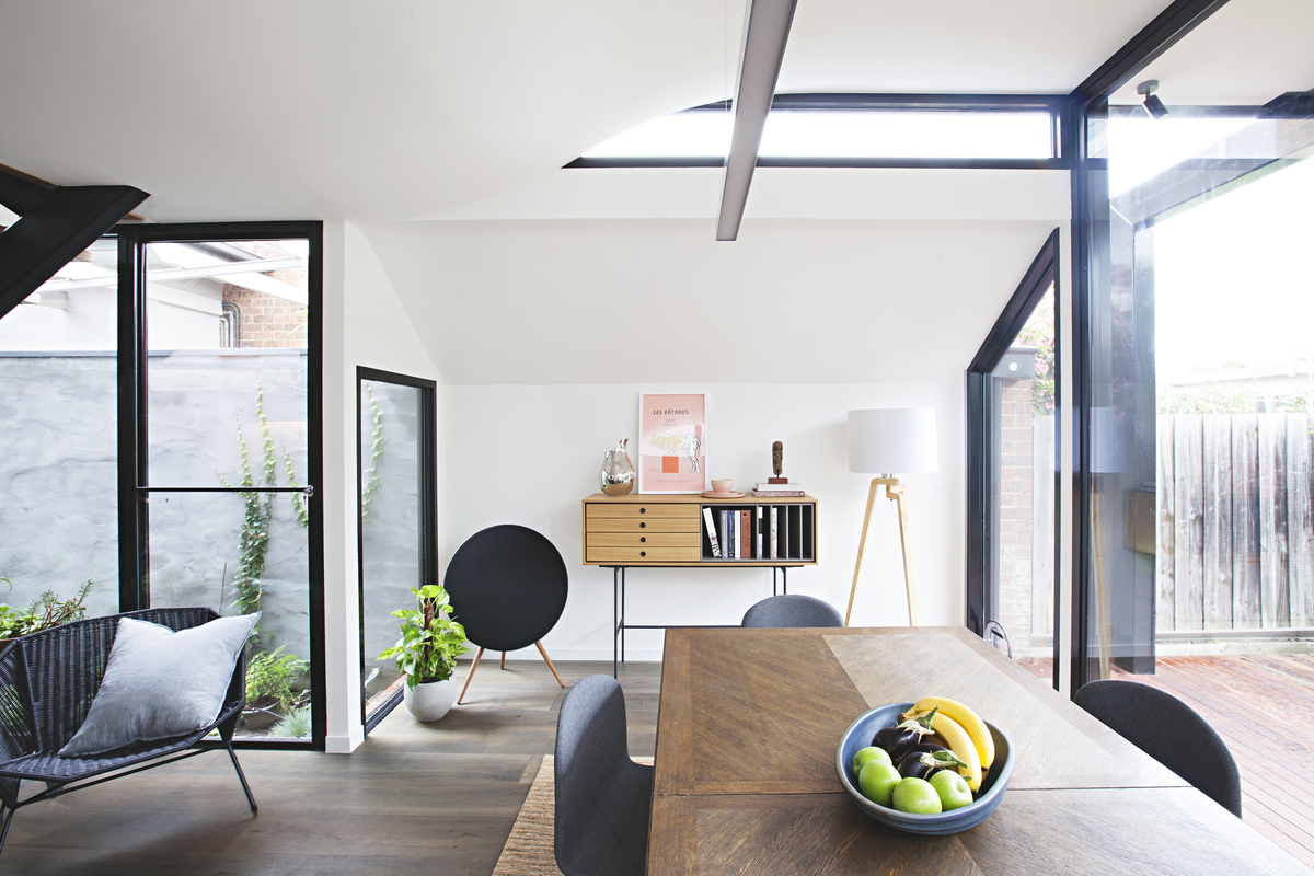 Curving and Perching Overhead, This Addition is Playful and Light