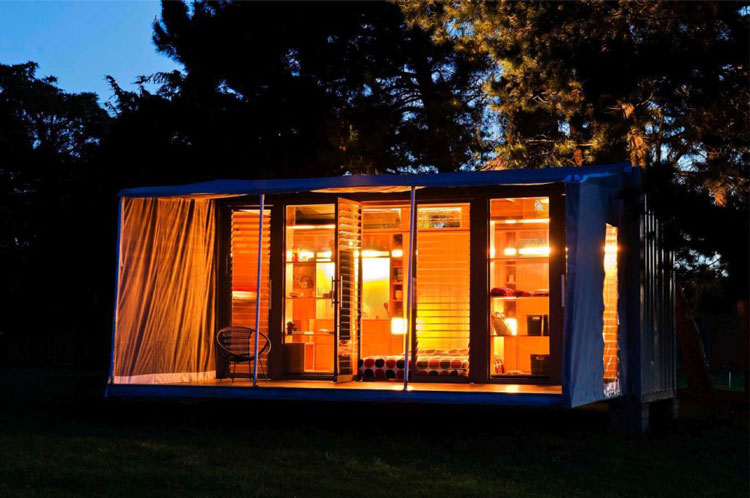 Port-a-Bach Portable Shipping Container Home by AtelierWorkshop Architects (via Lunchbox Architect)