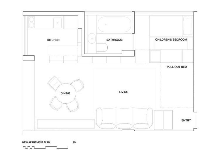 Potts Point Apartment New Plan