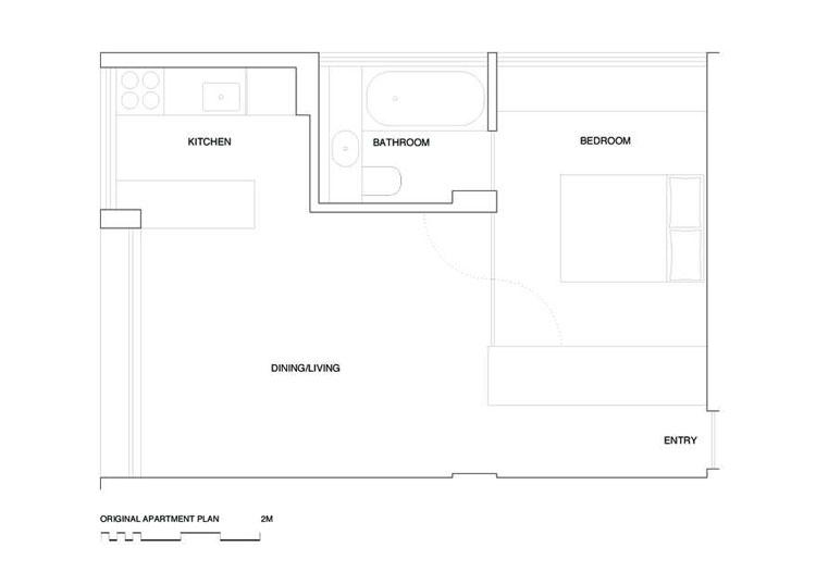 Potts Point Apartment Old Plan