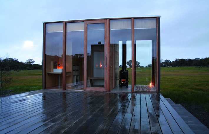 Sustainable Prefabricated Rural Retreat by ARKit (via Lunchbox Architect)