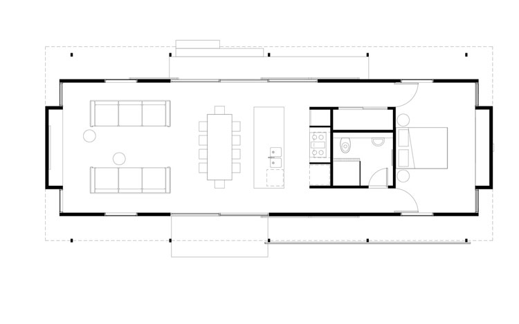The Mook sophisticated tent house plan