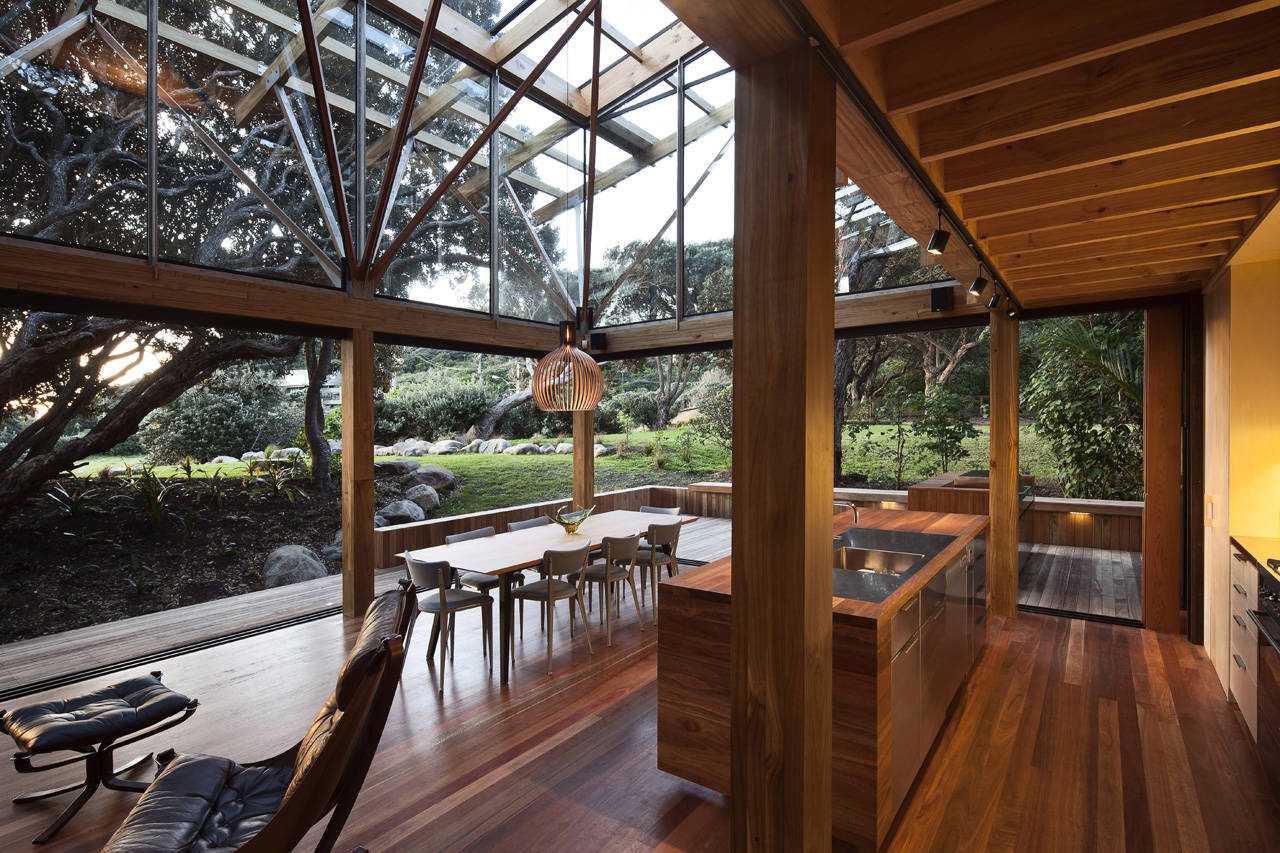 Under Pohutukawa House by Herbst Architects (via Lunchbox Architect)