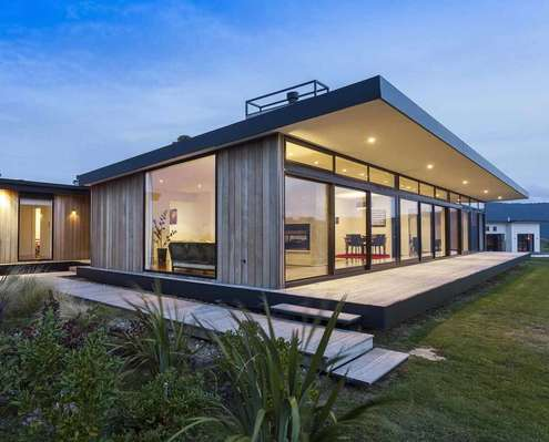 This relaxed home channels the relaxed vibe of a - Architect designed modular homes nz ...