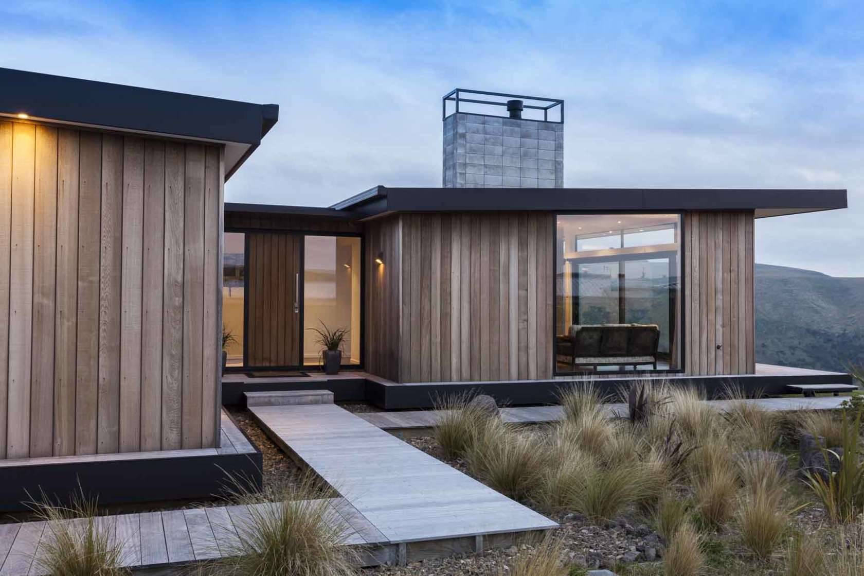 This relaxed home channels the relaxed vibe of a for Modern house designs nz