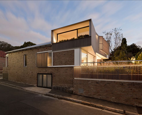 Balmain Houses by Benn & Penna Architects (via Lunchbox Architect)