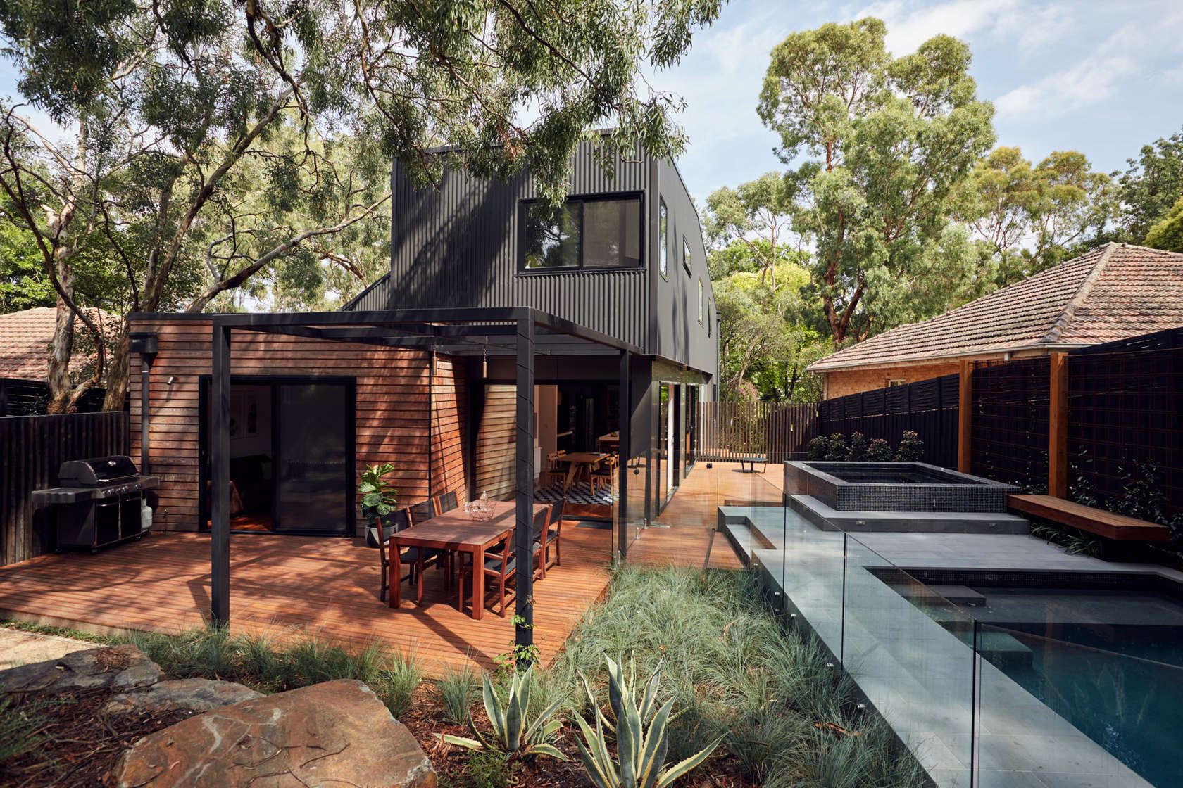 Home among the gum trees makes the most of a sloped site for Blackburn home