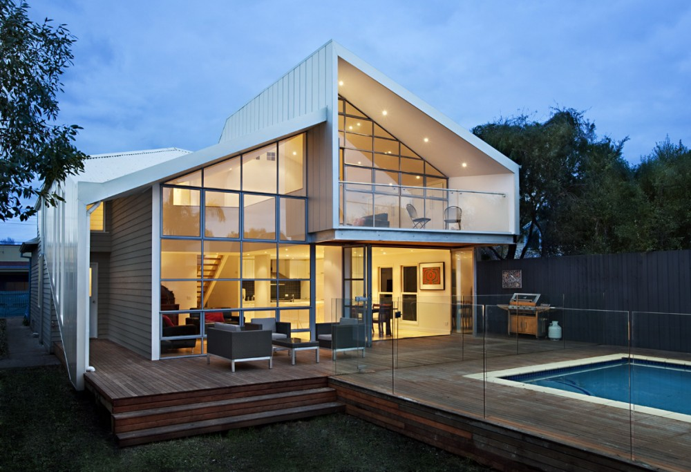 blurred house by bild architecture via lunchbox architect