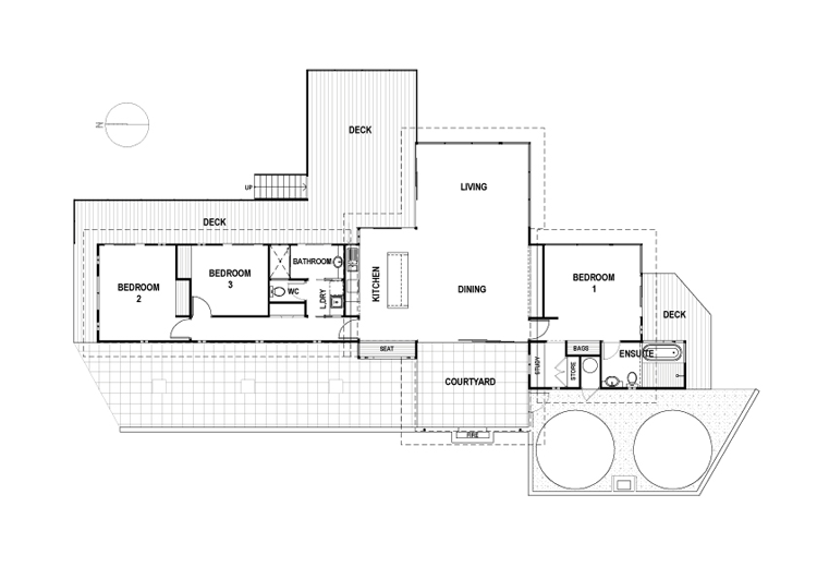 Bruny shore house is eco friendly but still has a dramatic for Shore house plans