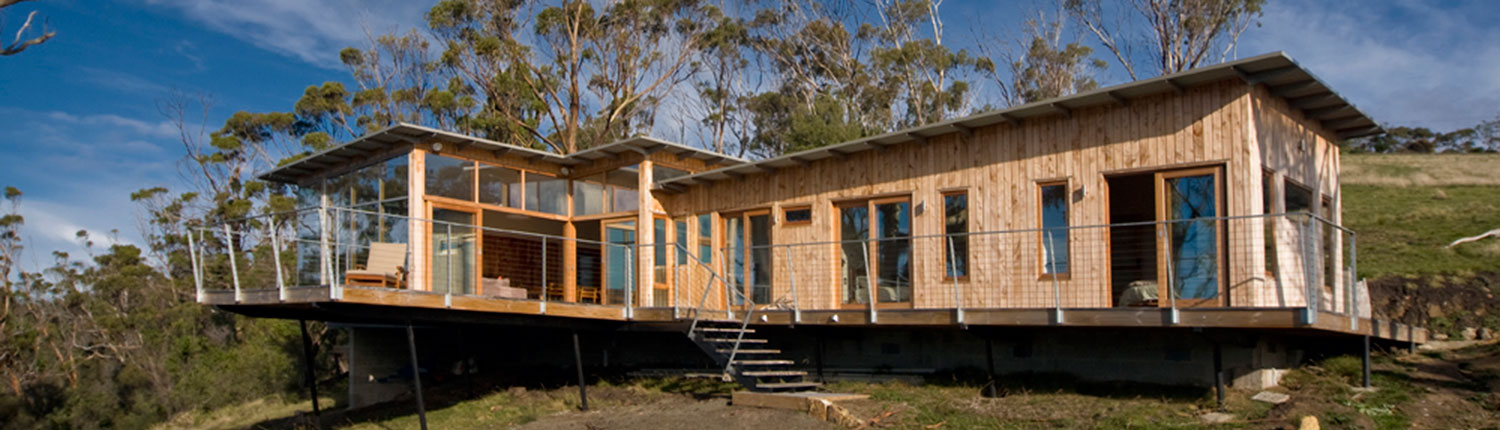 Bruny shore house is eco friendly but still has a dramatic for Beach house kit homes