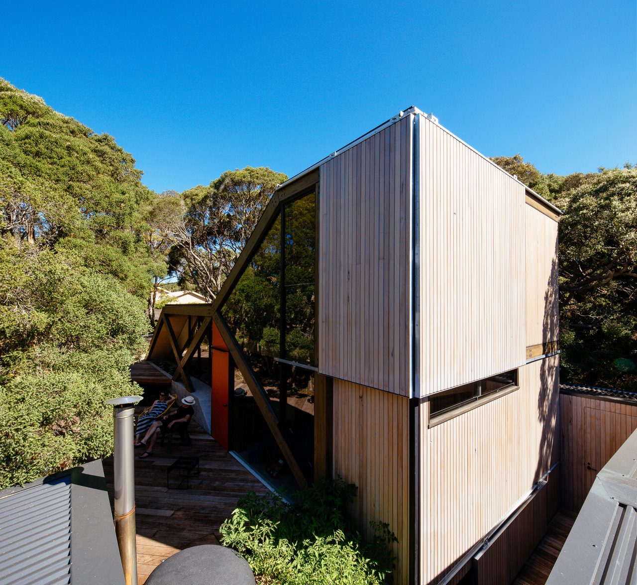 Cabin 2 A Folding Roof Grows Out Of The Coastal Topography