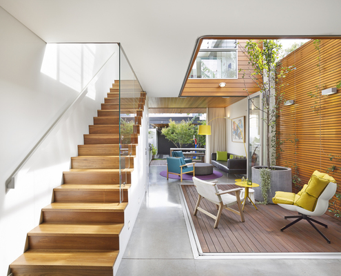 Courtyard House by Elaine Richardson Architect (via Lunchbox Architect)