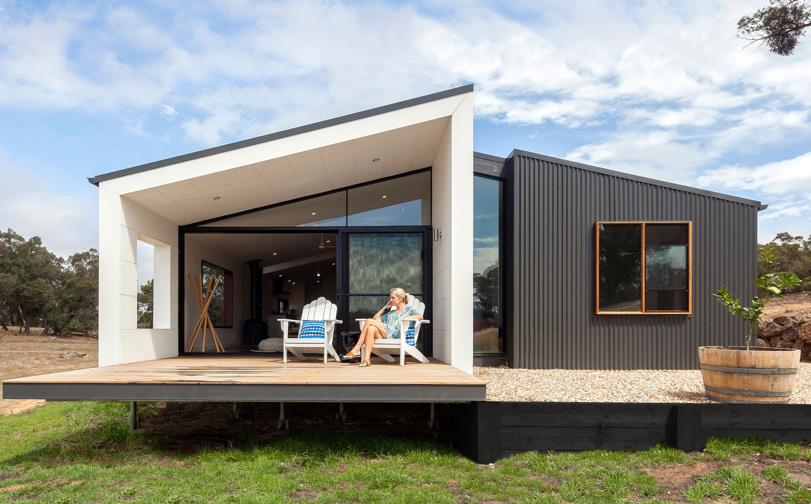 Striking Prefabricated Home Settles Into This Stunning
