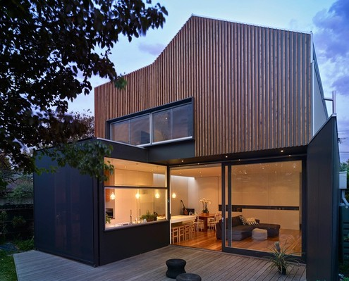 A Timber Clad Extension Contrasts But Considers Its