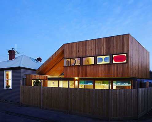Fenwick Street House by Julie Firkin Architects (via Lunchbox Architect)