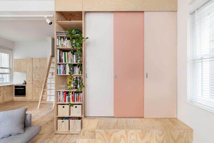 flinders lane space efficient apartment. Black Bedroom Furniture Sets. Home Design Ideas