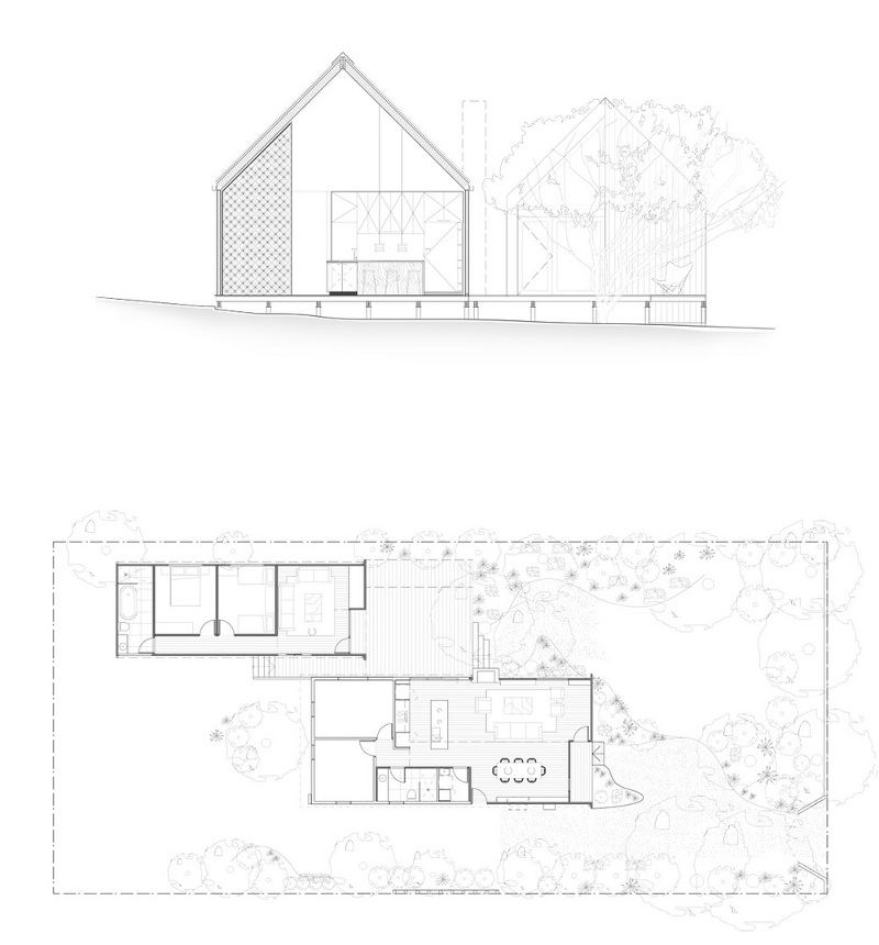 Beach Box House Plans: Tiny Gabled Guest Pavilion Adds Space To A Weatherboard