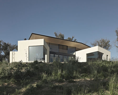 Hillside Habitat by Edwards Moore Architects (via Lunchbox Architect)