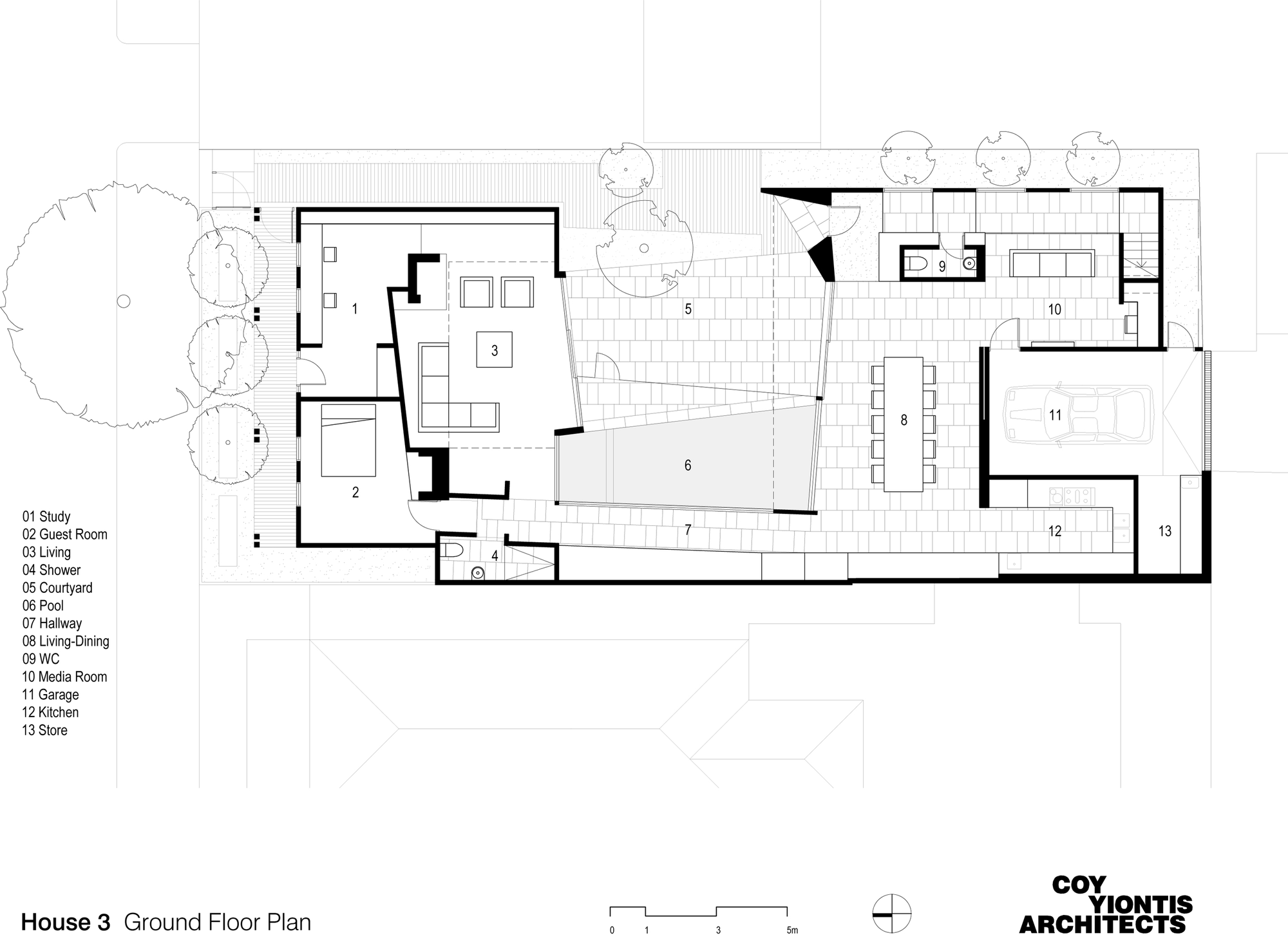 House 3 finds enough space for a large extended family in for Extended family house plans