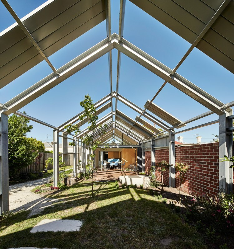 Cut Paw Inside Out House By Andrew Maynard Architects Via Lunchbox Architect Outdoor Areas