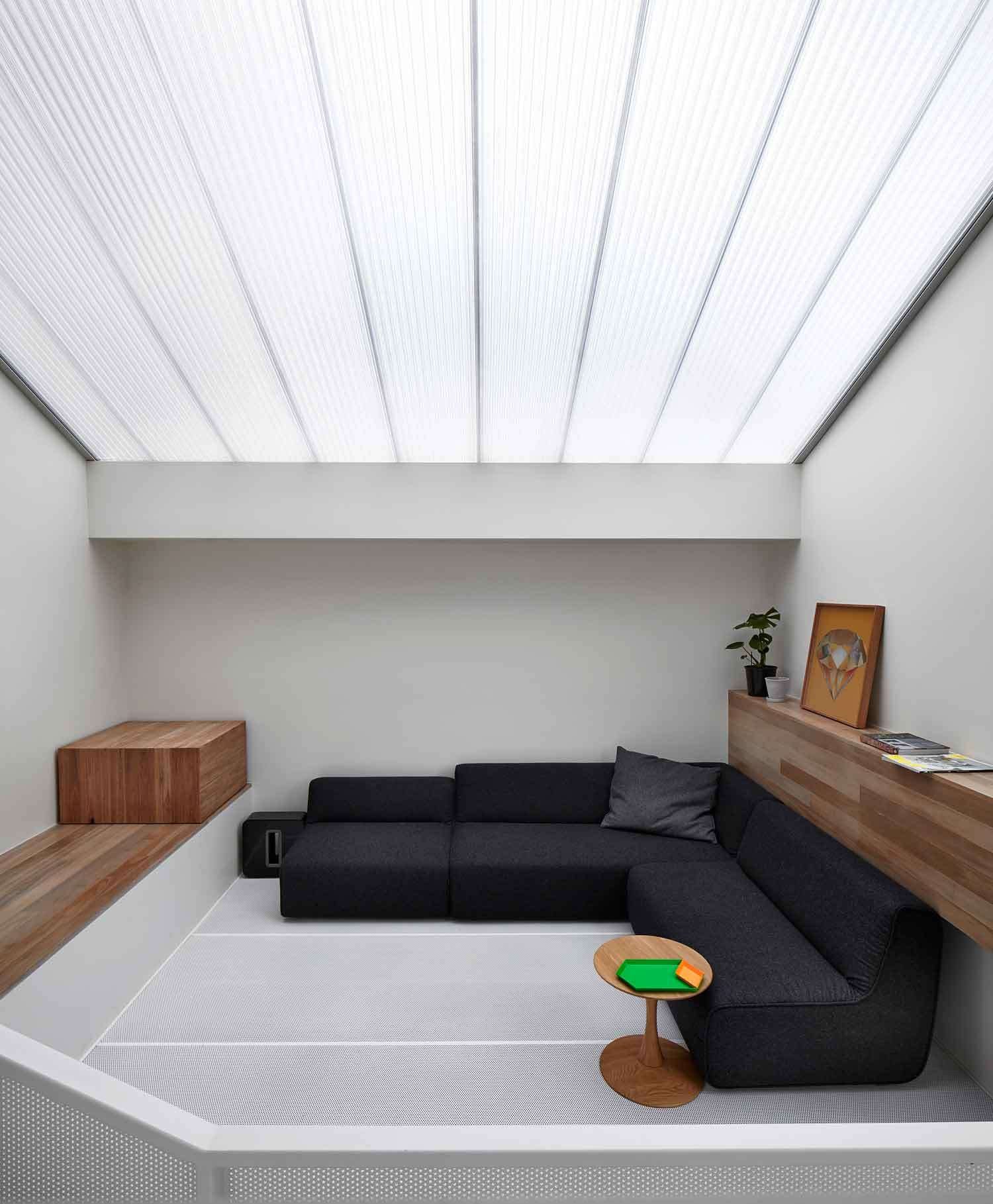 Lightbox House Perforated Floor Not As Terrifying As It