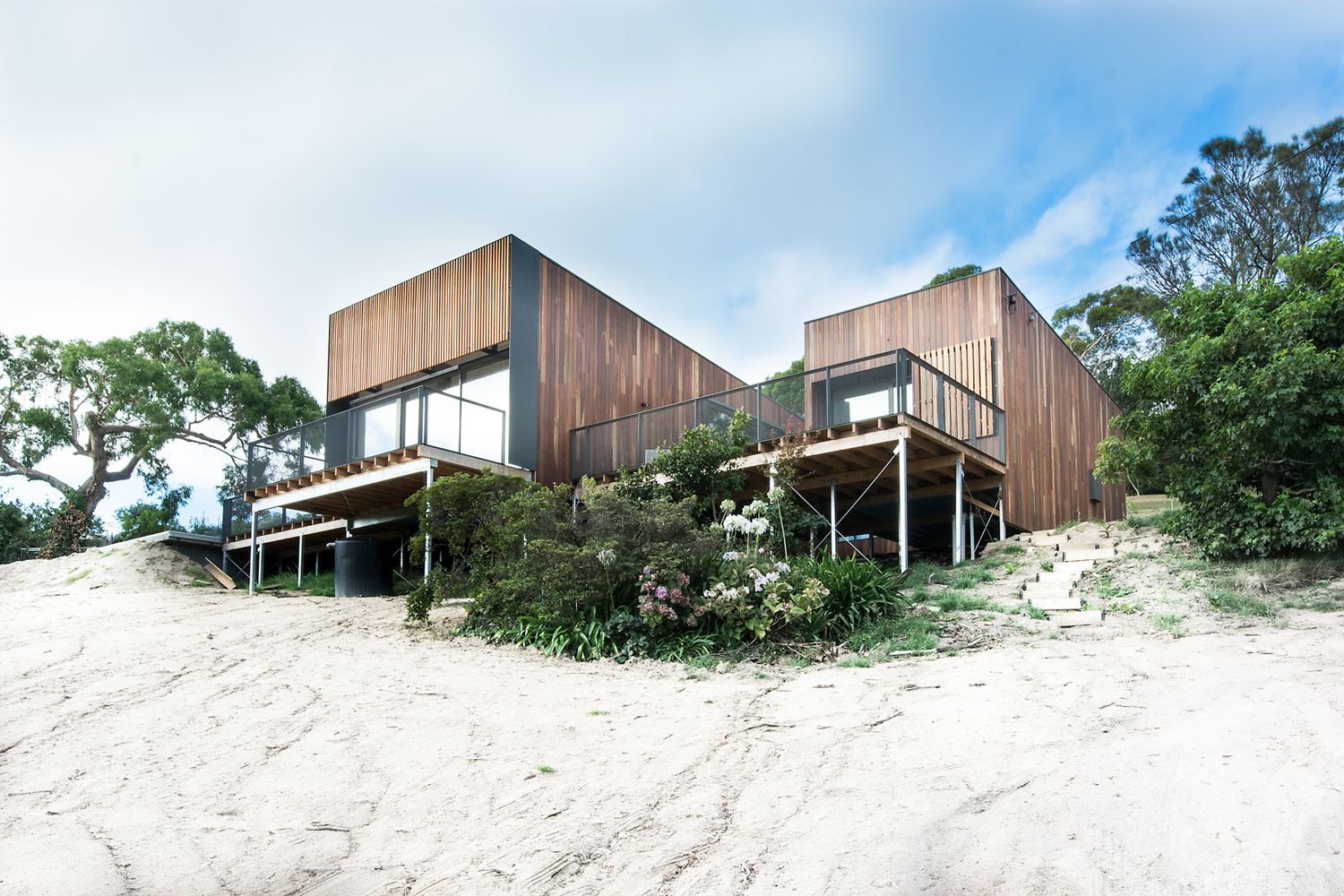 Perched On Top Of The Sand Dunes For The Perfect Beach View