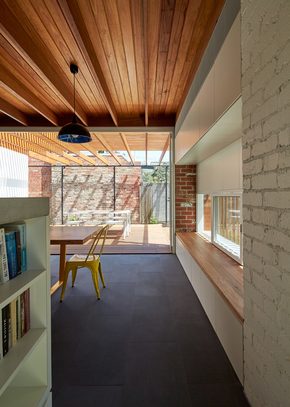 Materials and Light Filled Courtyards Connect Old to New