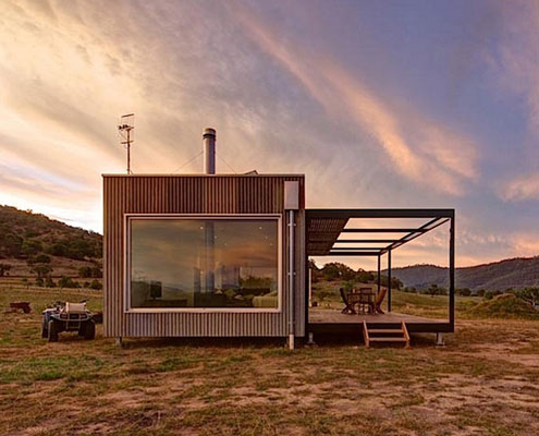 Modscape Self Sufficient Cabin by Modscape (via Lunchbox Architect)