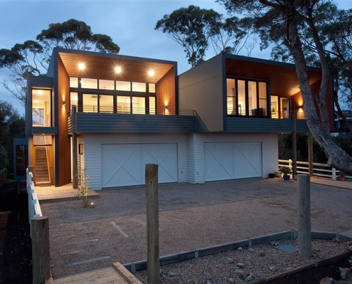 Mornington Beach Houses by Habitech Systems (via Lunchbox Architect)