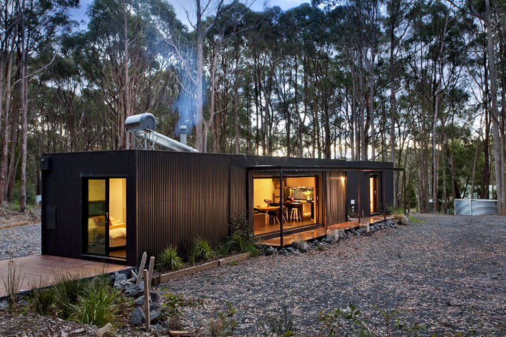 A Perfectly Proportioned Prefab Cabin Secluded In A Forest